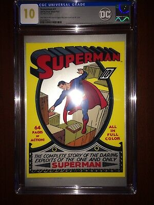 2018 New Zealand Mint Silver 35g - Superman #1 - GEM MINT 10 - CGC Foil Cover