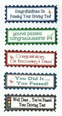 5 Passed Driving Test Congratulations Good Luck Greeting Card Sentiment Banners