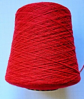 BRAMWELL FINE 4-PLY YARN *NEW* 500 gm cone, 100% Acrylic,  Scarlet Red A328