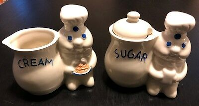 Pillsbury Dough Boy Creamer/Sugar Set - NEVER USED
