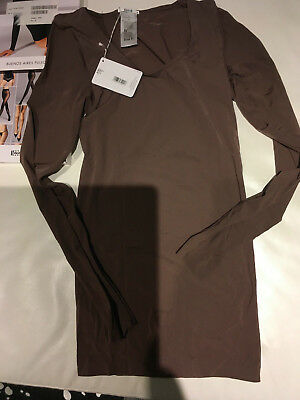 BNWT WOLFORD in box Buenos Aires Pullover Stretch Top Medium 'Clove' RRP £130