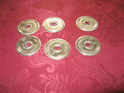 Vintage Snap-It Metal 45 RPM Record Insert Adapter Kirsch Music Corp. Lot of 6