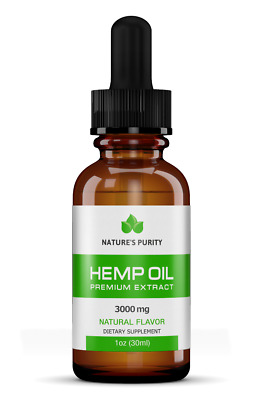 Buy 2, get 1 FREE! Nature's Purity Premium Hemp Oil - 3000mg Ultra Strength