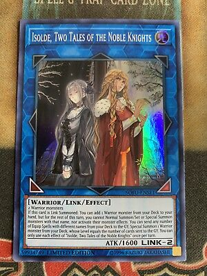 Yugioh Isolde, Two Tales of The Noble Knights SOFU-ENSE1 Super Rare Promo