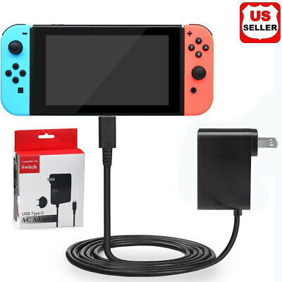 AC Adapter Power Supply for Nintendo Switch Wall & Travel Charger Plug Cord US