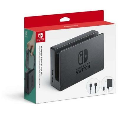 Nintendo OEM Switch Dock Set With Power Cord And HDMI Black REO729 Very Good