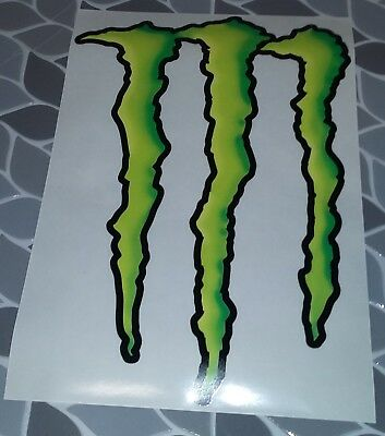 "Monster Energy Logo Sticker Decal 14"" X 10"" Large"