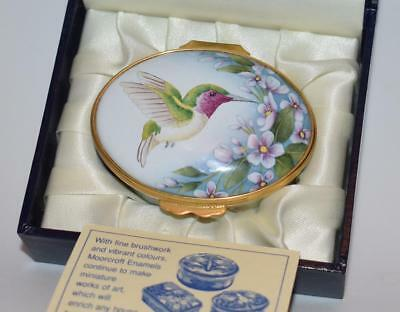 Raro Moorcroft Esmalte Ovalado Caja Box Hummingbirds Shintaki - S Smith  2004
