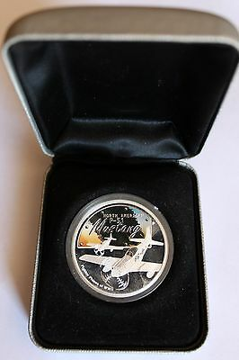 P-51 Mustang 1oz Silver .999 Proof coin Perth Mint 2008