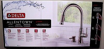 Delta Allentown Single Handle Pull Down Sprayer Kitchen Faucet Temp