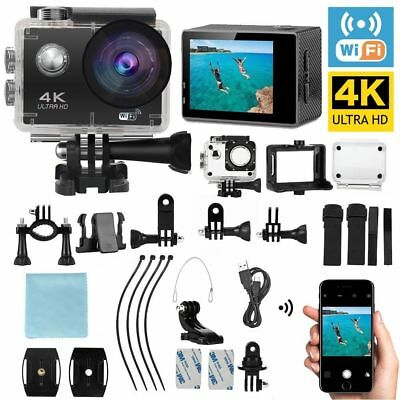 HD 4K 1080p Sports Action Video Camera Waterproof WIFI 170° Degree Diving Remote