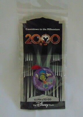 "New 2000 Disney Jimminy Cricket Pin ""Give a Little Whistle"" Millennium Countdown"