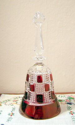 Vintage Bell, Red and Clear Blocks, Quilted