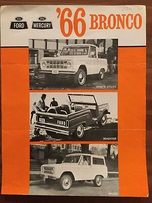 1966 Ford Bronco Brochure Advertisement, Canadian Edition