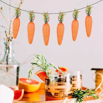 TINKSKY 20PCS Foam Glitter Powder Artificial Carrots for Easter Home Photography