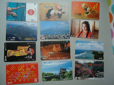 JAPAN USED LOT 55 CARDS DIFFERENT SERIA 390 scan 5