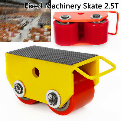 Machinery Skate Fixed 2 Rollers 2.5T Loads Heavy Equipment Dolly Skate Machinery