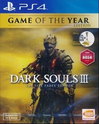 Dark Souls III The Fire Fades Edition (English/Chi Ver) for PS4 Playstation 4