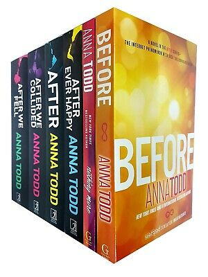 Anna Todd After We Collided, We Fell, Ever Happy, Before 6 Books Collection Set