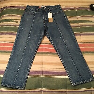 246cd3c2dbf ... Womens Size 28 in. Blue Distressed Denim Button Fly.