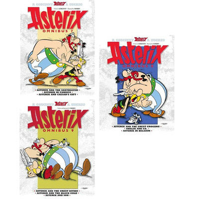 Omnibus Asterix Series Collection 3 Books Vol 7 - 9 By René Goscinny Pack NEW