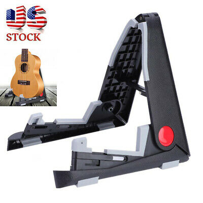 Black Portable Folding Guitar Stand For Acoustic Guitar Stand Storage Tool US
