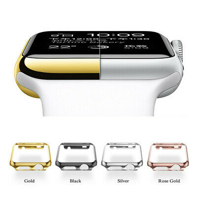 Full Body Cover Snap Case+Screen Protector For Apple Watch Series 4 40/44/38/42