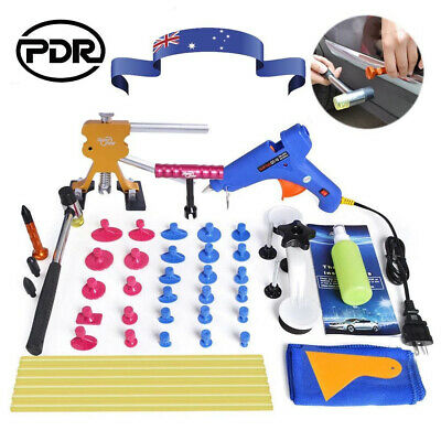 PDR Car Body Paintless Dent Puller Lifter Hail Removal Tools Glue Gun Repair Kit