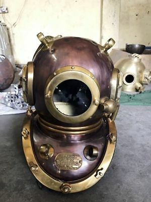 Vintage Antique Mark V Diving Divers Helmet Navy U.S Deluxe Scuba Deep Sea 20""