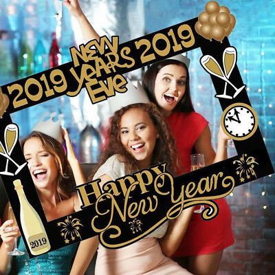 2019 Happy New Year Frame Diy Photo Booth Props Photography Party
