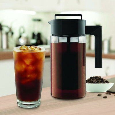900ML Cold Brew Iced Coffee Maker Iced Tea Maker Airtight Seal Silicone Handle