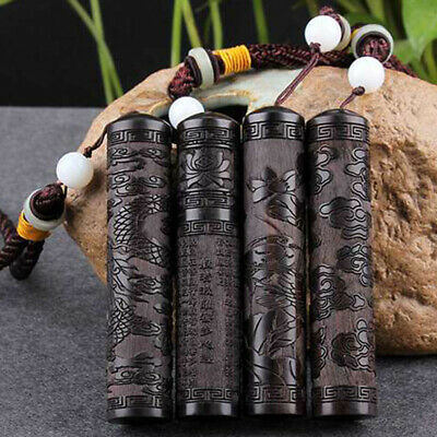 Snuff Bottle Snorter Sniffer Ebony Bullet Vial Spice Toothpick Case Container