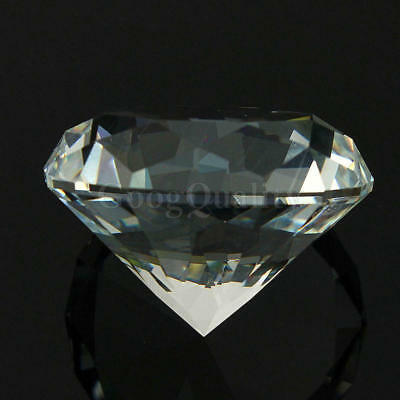 40mm Crystal White Paperweight Cut Glass Large Giant Diamond Jewelry Gift Hot