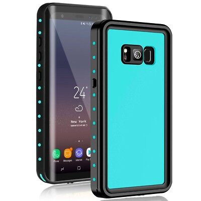 For Samsung Galaxy S8 Plus Waterproof Case W / Built-in Screen Protector Shock