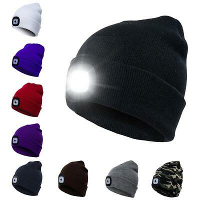 LED Knit Beanie Cap Hat Head Light Night Lamp for Outdoor Hunting Camping Hiking