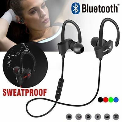 Sports In-Ear Wireless Earphones Bluetooth 4.1 Stereo Headphones Headsets W/ Mic