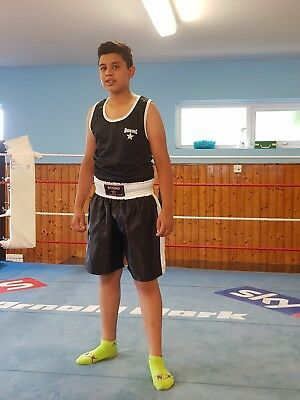Boxing shorts set Black & White