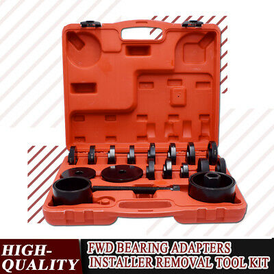 23pc Front Wheel Drive Bearing Press Puller Tool FWD Bearing Removal Adapter Kit