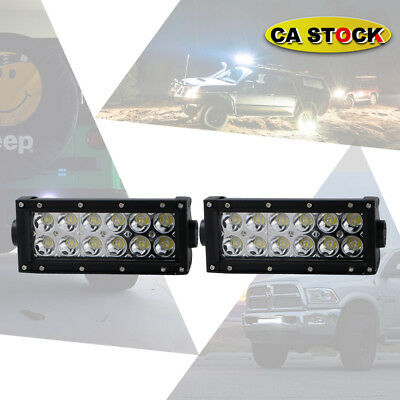 2x 7Inch LED Work Light Bar Spot Offroad 4WD SUV Driving Fog Lamp For Yamaha UTV