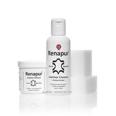 Renapur Restore Leather Care Kit Powerful Cleaning & Natural Balsam