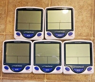 Lot of 5 - Cole-Parmer Traceable Digital Thermometers