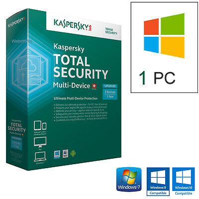 Antivirus Kaspersky Total Security 2019  1Pc Licenza 1 Anno - Originale