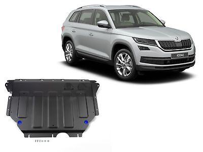 SKODA KODIAQ 2017-up ENGINE + GEARBOX GUARD SKID PLATE UNDERTRAY BLACK STEEL