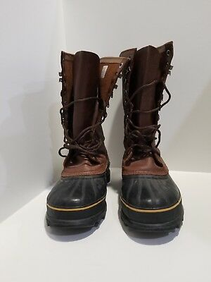Sorel Mens Brown Leather Winter Boots Size 11