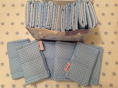 Hippy Chick Bumpsters Cot Bar Bumpers Blue/white