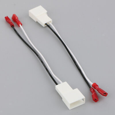 2Pcs Car Audio Speaker Cable Wiring Harness Adapter for Toyota 1987-2013