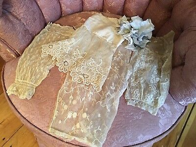Collection Of 4 French Tambour Lace Sleeve Cuffs Cotton Netting #Axu