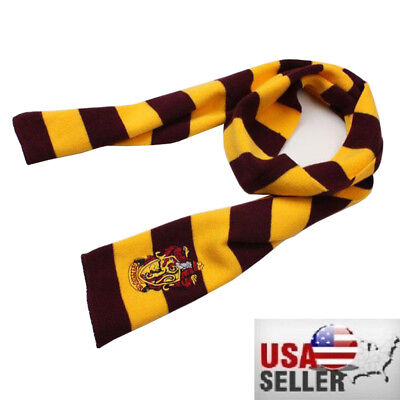 US Seller Harry Potter Gryffindor Knit Wool Scarf  Costume Cosplay US SELLER