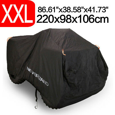 Size XXL 190T Waterproof ATV Cover Fit For Polaris Honda Yamaha Can-Am Suzuki UK