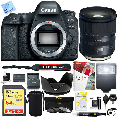Canon EOS 6D Mark II 26.2MP Full-Frame DSLR Camera Tamron SP 24-70mm VC Lens Kit